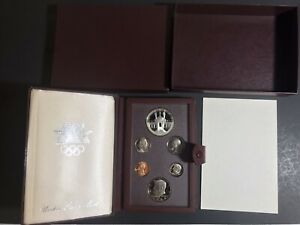 1984 Olympic Prestige Proof Set 6-Coins US Mint SILVER Dollar Box