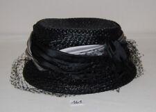 C161 Ancien chapeau - femme - chic - gala