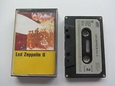 LED ZEPPELIN II   MUSIC  CASSETTE 1ST  PAPER LABEL