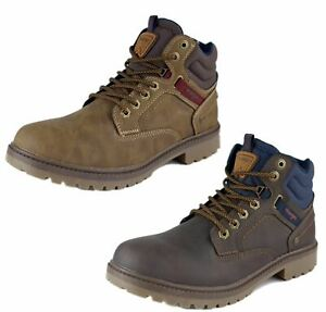Wrangler Mens Lace Up Casual Boots Yukon Walking Brown 7 8 9 10 11 12