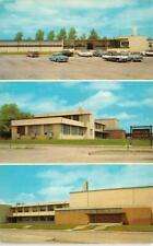 TX, Texas  ODESSA JUNIOR COLLEGE Multiple Views  50's CARS  Chrome  Postcard