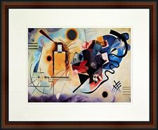Yellow - Red - Blue by Wassily Kandinsky. Framed Poster. Real Wood Walnut Frame