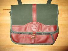 J.W. HULME CO. Green Canvas & Leather Messenger Bag Shoulder Case MINT *USA MADE