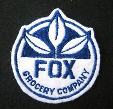 """FOX GROCERY COMPANY EMBROIDERED PATCH FOOD WAREHOUSE CHAIN Pittsburgh 3 1/2"""" x 4"""