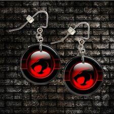 "THUNDERCATS  1"" Button Dangle Earrings  FREE PIN  USA Seller"