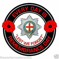 Coldstream Guards Remembrance Day Inside Car Window Clear Cling Sticker