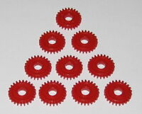 10 X Plastic 24 Tooth Gear for 3 mm Shafts - 24T - 3mm - 10.3 mm OD Pinion Gears