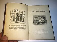Antique Victorian American Children's Book! Last Day of the Week! C.1880's Story