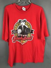 Gym Rats Basketball Hoops Gangster Mafia Mouse T-Shirt Red 2XL