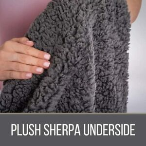 The Connecticut Home Company Soft Shag with Sherpa Bed Throw Blanket, Many Color