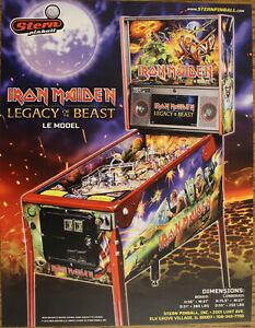 IRON MAIDEN LIMITED EDITION Stern Pinball flyer