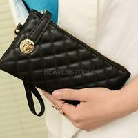 Fashion Women Lady Zip Leather Clutch Case Long Hand Bag Purse Wallet Handbag