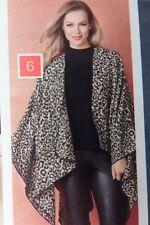 AVON Makayla Black & White Leopard print cape One Size BNWT