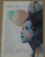 """Eclipse"" Hand-Painted Acrylic & Spraypaint HPM by John Doe on Vintage Book Page"