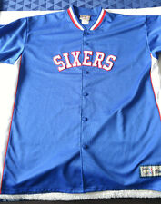 Sixers 76 NBA XL shirt Hardwood Classics warmups philadelphia embroided rare