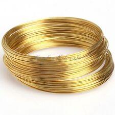 Wholesale 100/500 Loops Silver/Gold Memory Steel Wire Cuff Bangle Bracelet DIY