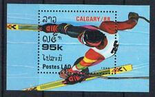 O/ 27;  Laos;  Olympiade 1988, Block postfr.**