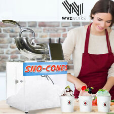Ice Shaver Snow Cone Hawaiian Shaved Margarita Maker Stainless Steel Party Box