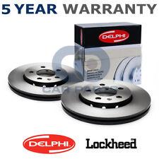 2x Rear Delphi Brake Discs For Alfa Romeo 147 156 164 Fiat Croma Lancia Thema