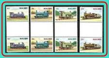 MALAWI 1987 BRITISH LOCOMOTIVES / RAILROADS & TRAINS gutter PAIRS MNH CV$43.50