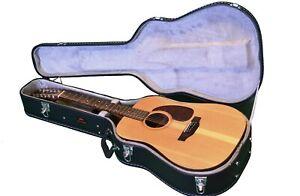 High spec Black flight case for acoustic guitar by Rock Hard 6 or 12string jumbo