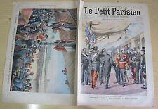 Le petit parisien 744 (1903) Roi d'angleterre edouard 7 VII à Paris et vincennes