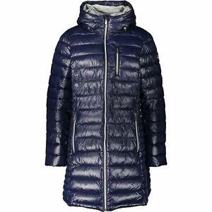 MICHAEL KORS Women's Padded Packable Jacket Coat, True Navy Blue, size UK 16