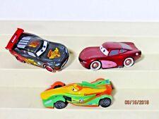 Lot of 3 Disney Pixar Cars Lightning Mcqueen Cruisin Cluthgoneski Hudson Hornet