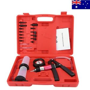 Auto Hand Held Vacuum Pump Pressure Tester Kit Brake Bleeder Test Tool Set AUS