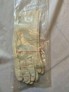Vtg Caresskin by Superb 7 ivory leather  gloves washable West Germany