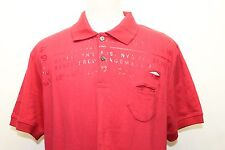 Marc Ecko Red Men Short Sleeve Shirt Plastic Words  Print Sz Large Cotton
