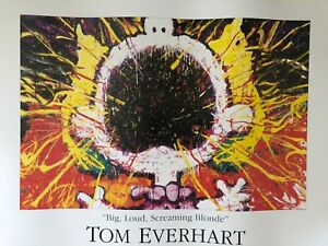 STUNNING VERY RARE GENUINE TOM EVERHART LIMITED EDITION SNOOPY 36x24 INCH