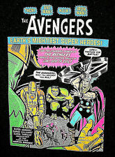 Marvel Comics Classic Old School Avengers Neon Black T-Shirt New Large