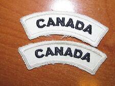 Royal Canadian Navy Badge Set Shoulder Title Flash CANADA Blue on White