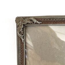 "12x9.6"" Frame Photo Picture Glass Danish Brass Silver Bronze Farmhouse Large"