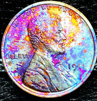 """1911 P Lincoln Wheat Penny Cent- """"Beautiful Toning"""" SUPERB GEM HIGH MS GRADE #00"""