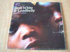 JOSH WHITE & Leadbelly avec des Guitares 1968 UK SAGA Label VINYL LP ERO 8027