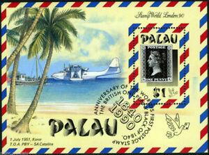 "Palau - ""150th ANN. OF PENNY BLACK"" MNH Miniature Sheet MS 1990"