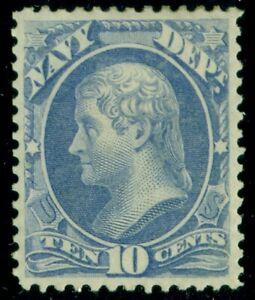 US #O40, 10¢ Navy, og, hinged, VF, Scott $210.00