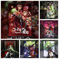 Code Geass Lelouch C,C, Anime Wall Art Poster Scroll Home Decoration