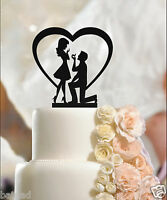 Fiance & Fiancee in Heart - Engagement Cake Toppers - 3mm high quality acrylic