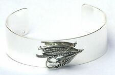 Fishing Fly Bracelet Bangle Silver Plate and Pewter Fishing Gift Boxed NEW