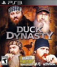 DUCK DYNASTY PS3 NEW! HUNT, RACE, BE A ROBERTSON! BONUS UNCLE SI REDNECK TRIVIA