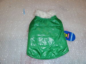 NEW Top Paw Dog REV PLAID VEST FURRY CLR GREEN S( Small )for dogs NEW WITH TAG