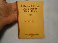 Nice Vintage 1931 Western Cartridge Rifle & Pistol Ammo Hand Book