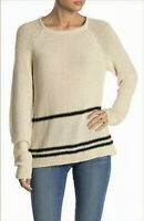 MAGASCHONI Womens Sweater Beige Striped Pullover Tunic Size XS