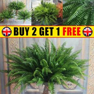 Large Artificial Bouquet Fake Plant Bush Leaf Leaves Foliage Home Decoration UK