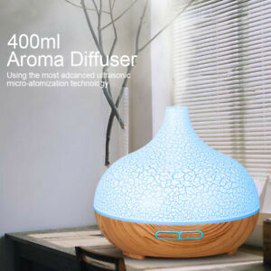 Aroma Essential Oil LED Ultrasonic Air Mist Humidifier Diffuser Light Timer UK