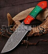 EVEREST HUNT CUSTOM HANDMADE DAMASCUS STEEL HUNTING CAMP SKINNER KNIFE B5-1683