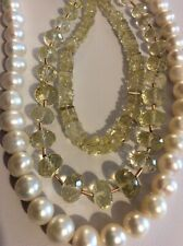 NEW Jewellery Making Kit, Lemon Quartz, FW Pearls, Silver Plated Wire & Findings